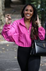 Alex Scott MBE seen out and about in North London after presenting Soccer Aid over the weekend