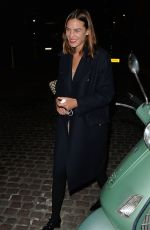 Alexa Chung Leaving The Chiltern Firehouse in London