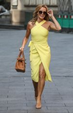 Amanda Holden At Global Radio Studios in London