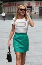 Amanda Holden Leaving the Global studios after the Heart breakfast show in London