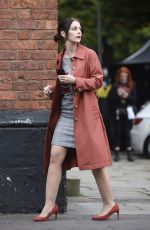 Amy Wren, Catherine Tyldelsey and Alexandra Roach At New ITV Drama Viewpoint filming in Manchester