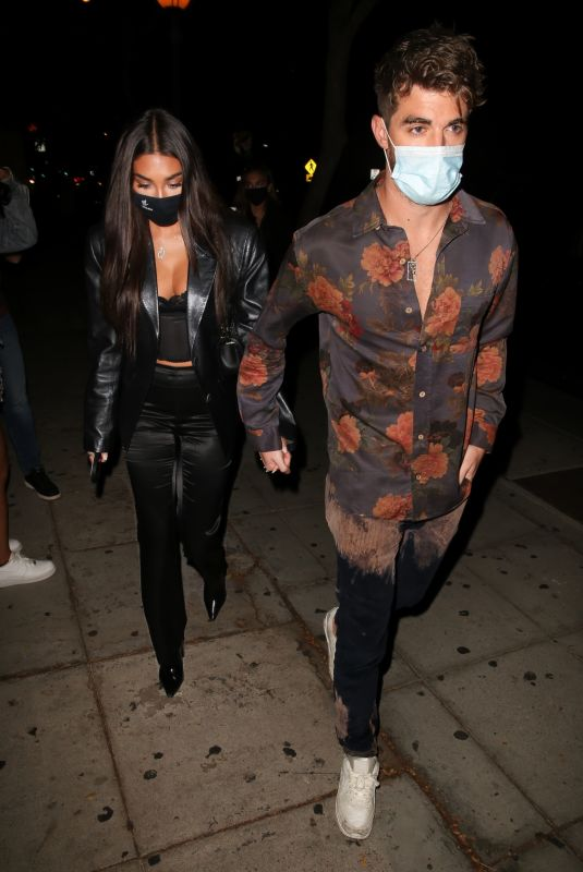 Andrew Taggart & Chantel Jeffries Arrives at the opening of Kelsey Calemin