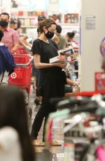 Angelina Jolie Stops at target to do some shopping with her kids in West Hollywood