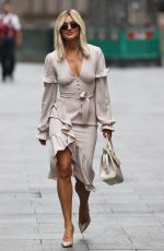 Ashley Roberts Pictured at Heart radio in tight dress in London