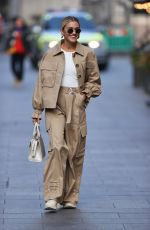 Ashley Roberts Pictured leaving the Global studios after the Heart breakfast show in Khaki cargo suit in London