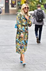 Ashley Roberts Pictured leaving the Global studios after the Heart breakfast show wearing floral print dress in London