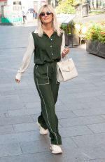 Ashley Roberts Seen leaving Global Studios Heart Radio in London