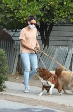Aubrey Plaza Walking her dogs in Los Angeles