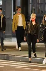 Barbara Palvin Grabs dinner with friends in SoHo