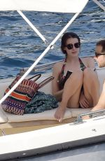 Bee Shaffer On holidays out in Portofino