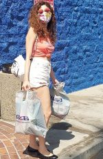 Blanca Blanco Displays her legs wearing denim shorts and a cropped tee in LA