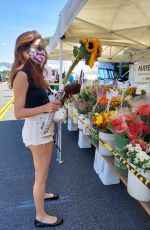 Blanca Blanco Stops by the Farmers Market in West Hollywood