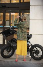 Brittany Furlan Seen taking a calculated risk by riding electric cycles in between traffic in Los Angeles