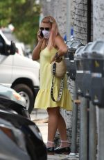 Busy Philipps Takes a call while running a few errands around town in Los Angeles