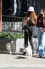 Camila Mendes & Madelaine Petsch Take their dogs for a walk and grab coffee after completing their 14 day mandatory quarantine in Vancouver