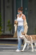 Camila Morrone Taking Jack for a walk out in LA