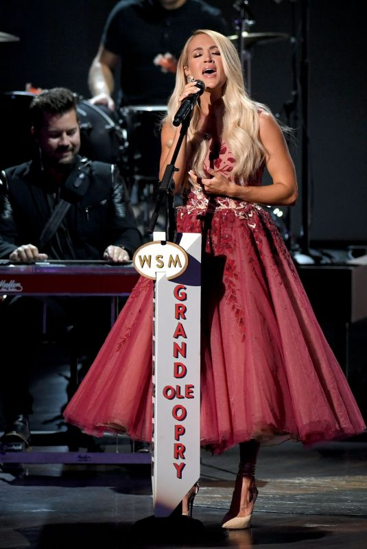 Carrie Underwood At 55th Academy Of Country Music Awards in Nashville