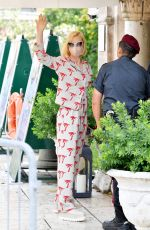 Cate Blanchett Has her temperature checked as she arrived at the Excelsior during the 77th Venice Film Festival in Venice