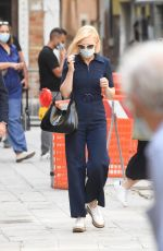 Cate Blanchett Spotted in a gorgeous blue dress heading towards the jury Venice Film Festival in Venice
