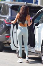 Chantel Jeffries Puts on a very curvy display while arriving to the gym in West Hollywood