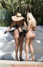 Chloe Ferry and Bethan Kershaw out together in Marbella