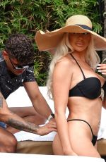 Chloe Ferry In black bikini who celebrated her 25th birthday in Marbella