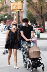 Chloe Sevigny Out for a stroll with her boyfriend Sinisa Mackovic and their baby boy in New York City