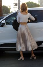Chrishell Stause Shows off her abs as she leaving the DWTS studio in Los Angeles