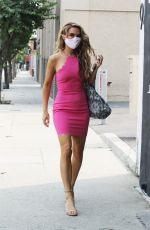 Chrishell Stause Stuns in a hot pink dress at the dance studio in Los Angeles