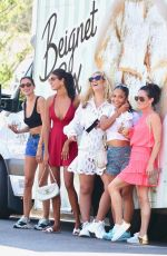 Christina Milian Is spotted working at her Beinet box truck handing out her famous pastries in Los Angeles