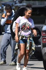 Christina Milian Steps some quality time with her family as she goes visiting her mom in Studio City