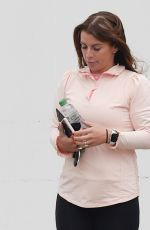 Coleen Rooney Looking a little downcast as she leaves the hair salon in Alderley Edge in Cheshire
