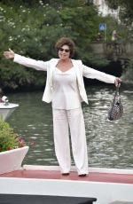 Corinne Clery Arrives at the Excelsior during the 77th Mostra