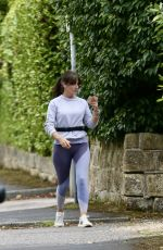 Davina McCall Spotted running in a country park in Kent