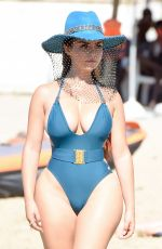 Demi Rose Pictured at another beach for a photoshoot in Ibiza, Spain