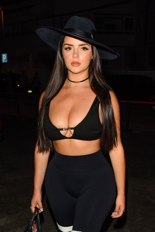 Demi Rose Pictured on a night out in Ibiza, Spain