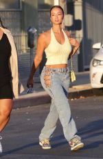 Draya Michele Has a friend taking sexy pictures of her while arriving at a restaurant in Los Feliz