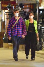 Dua Lipa Out late smoking then dinner at Sushi on Jones then to Gemma Italian restaurant for drinks and live band in New York