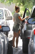 Elisabetta Canalis Takes her new dog Nalo with her as she gets some grocery shopping done at Bristol Farms in Beverly Hills