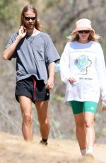 Elsa Hosk Pictured on a hike with her partner Tom Daly in Los Angeles