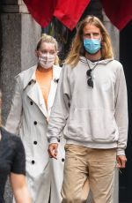 Elsa Hosk Strolling around with her boyfriend in New York