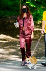 Emily Ratajkowski and Sebastian Bear-McClard are pictured on a beautiful day in Central Park in New York City