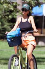 Emily Ratajkowski Going for a bike ride in the Hamptons