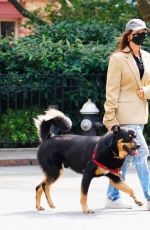 Emily Ratajkowski Out with her dog in New York