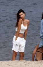 Emily Ratajkowski Shooting for inamorata on the beach in Hamptons