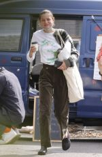 Emma Corrin Out in a Farmers Market with a friend in London