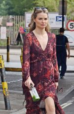Emma Rigby Spotted with a long haired mystery guy as the pair walked the dog out in Notting Hill