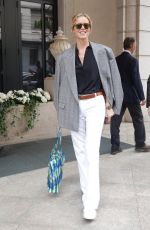 Eva Herzigova Seen at Milan Fashion Week