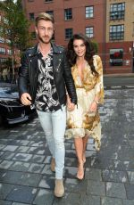 Faye Brookes Enjoys a date night at The Dakota Hotel in Manchester