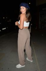 Francesca Allen At Chicama restaurant, Chelsea for dinner with a friend